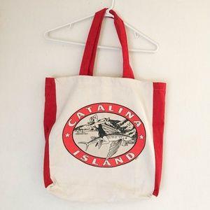 Vintage Catalina Island 100% Cotton Tote Bag